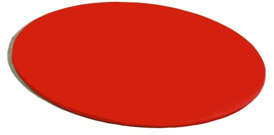 Tappeto rotondo imbottito rosso linea tappeti - Tappeto rotondo rosso ...