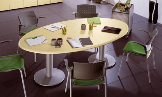 tavolo riunione ovale linea ufficio