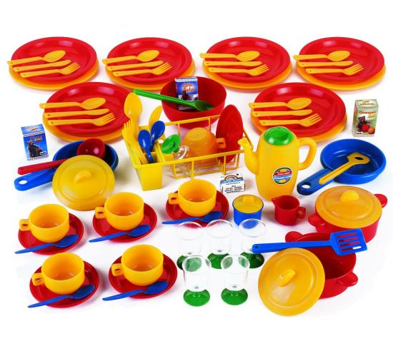 accessori per gioco cucina: set stoviglie da 80 pezzi - linea ... - Gioco Da Cucinare