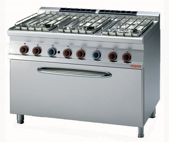 Cucina gas 6 fuochi con maxi forno a gas o elettrico - Cucina con forno a gas ...