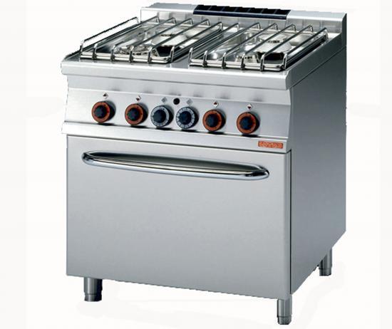 Cucina gas 4 fuochi con forno a gas e grill linea cucina - Cucina con forno a gas ...