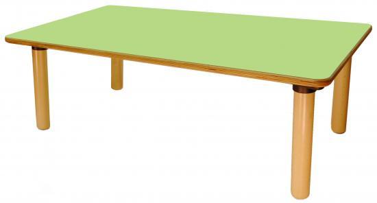 Tavolo rettangolare nido 6 posti con piano colorato - Misure tavolo rettangolare 6 posti ...