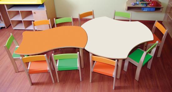 Tavoli Da Giardino Risparmio Casa : Kit risparmio materna: tavolo esatondo e tavolo sagomato 10 sedie