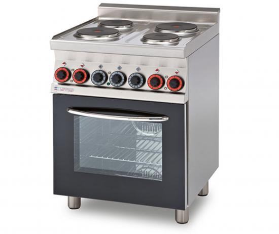 Linea cucina cucina professionale elettrica con 4 piastre - Piastre per cucinare elettriche ...